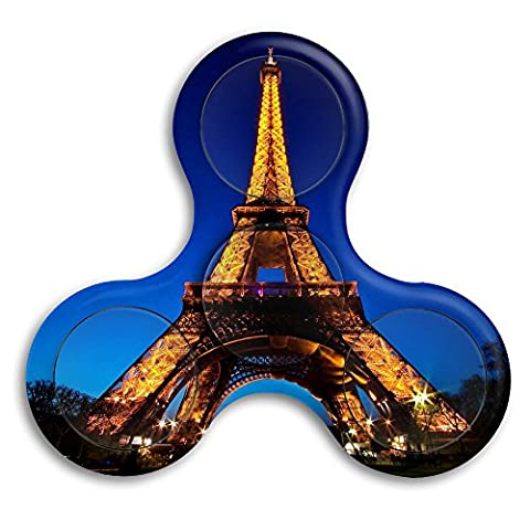 Jave Vive Office Desk Gadget - Eiffel Tower Against The Night Sky Focus Reduce Stress Tool For ADD / ADHD / Anxiety / Autism And Stress Relief Adult (What Did Kanye)