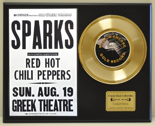 RED HOT CHILI PEPPERS Limited Edition Gold 45 Record Display. Only 500 made. Limited quanities. FREE US SHIPPING