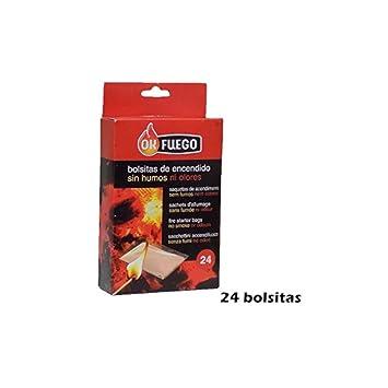 OK FUEGO Bolsitas de Encendido sin Humos ni olores para chimeneas, barbacoas,Estufas: Amazon.es: Hogar