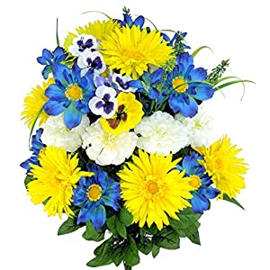 Admired By Nature 24 Stems Artificial Blooming Gerbera Daisy 31