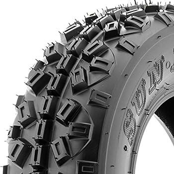 SunF ATV UTV 21x6-10 All Terrain 6 PR Tubeless Replacement Trail Tire A035, [Single]