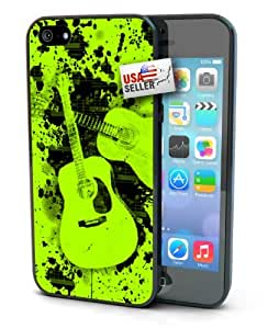 Green Retro Music Guitar Designer Case for iPhone 6 (4.7 inch) by mcsharks