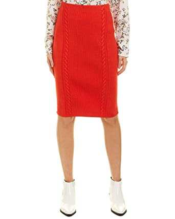 Rag Bone Womens Brandy Pencil Skirt Xs Red At Amazon Women S