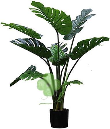 Mmamma Árbol Artificial de Plantas de decoración Planta Artificial Deliciosa de Monstera Falso Tropical Queso Palmera imitación suizos Planter Pot for jardín Tienda decoración de la Oficina Plantas: Amazon.es: Hogar
