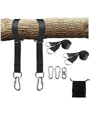 YaeTool Tree Swing Straps Hanging Kit,2pcs Extra Long 10ft Adjustable Swing Ropes, 2 Locking Carabiners, Swivel Hook, Easy Fast Swing Hammock Hanger Installation to Tree