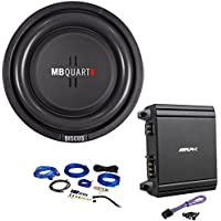 MB Quart DS1-204 8 Shallow Car/Truck Subwoofer+Alpine Mono Amplifier+Amp Kit