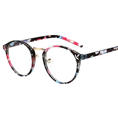 0d0ffcac13c9ee Leana Collection Unisexe Paire Retro Lunettes Vue Transparent Sans  Correction Verre Rond Monture Métallique Mode (Colore)  Amazon.fr   Vêtements et ...