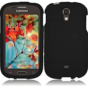 Generic Rubberized protector cover for Samsung Galaxy Light/T399 - Retail Packaging - Black