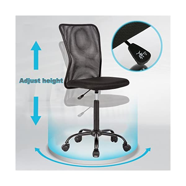 Home Office Chair Desk Ergonomic Computer Executive Modern Student Task Adjustable Swivel High Back Wide Comfortable Mesh Stool with Metal Base for Man Women