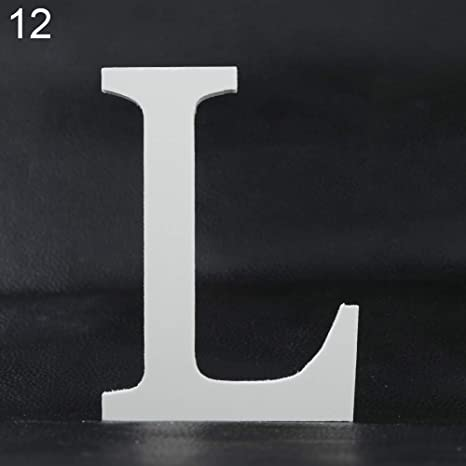 Aland Creative Thick Wooden Letters Alphabet Wedding Birthday Home Decorations 12