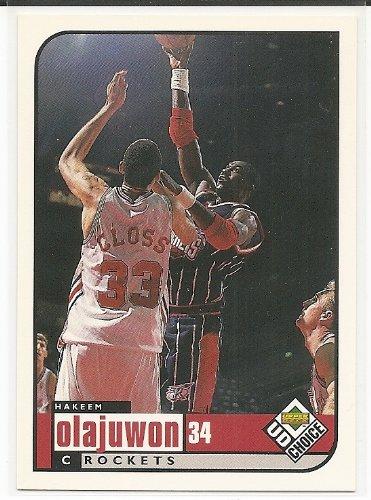 Card Olajuwon Hakeem Rockets - Hakeem Olajuwon 1998-99 UD Choice Preview Houston Rockets Card #51
