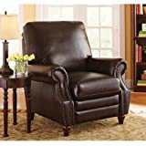 Actual Color: Antique Brown Better Homes and Gardens Nailhead Leather Recliner For Sale