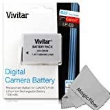 Vivitar LP-E8 Ultra High Capacity 1300mAh Li-ion Battery for CANON REBEL T5i T4i T3i T2i, EOS 700D 650D 600D 550D DSLR (Canon LP-E8 Replacement)