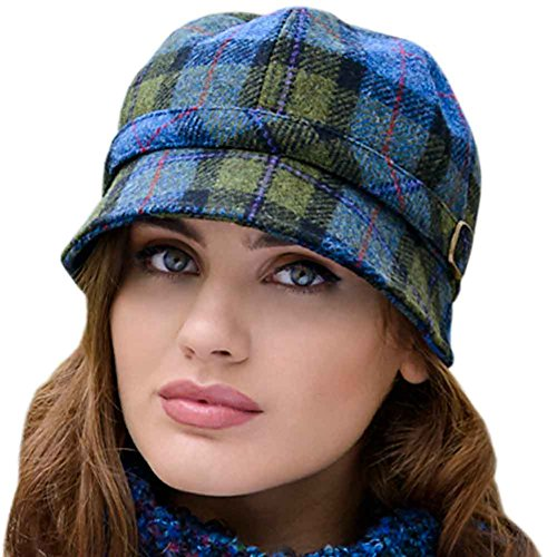(Ladies Flapper Hat Plaid. Made In Ireland From Irish)