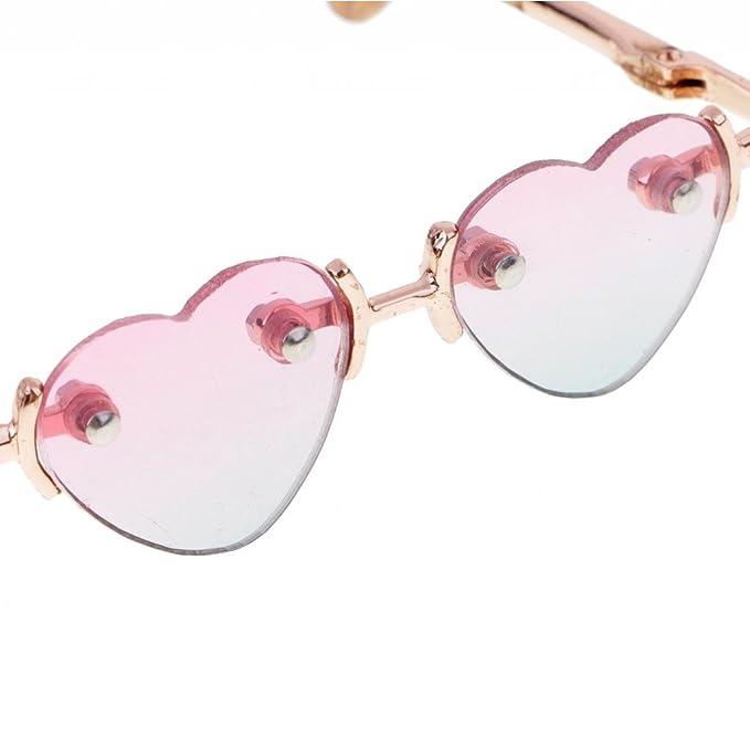 5c4406d959 MagiDeal BJD Gold Leg No Frame Heart Shape Glasses Eyewear for 1 3 SD DOA  LUTS Dollfie Accessory  2  Amazon.co.uk  Toys   Games