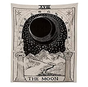 Tapestry The Moon Tapestry Medieval Europe Divination Tapestry Wall Hanging Tapestries Mysterious Wall Tapestry for Home Decor
