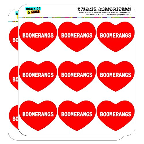 Love Boomerang (Graphics and More I Love Heart Boomerangs Planner Calendar Scrapbooking Crafting Stickers - 18 2