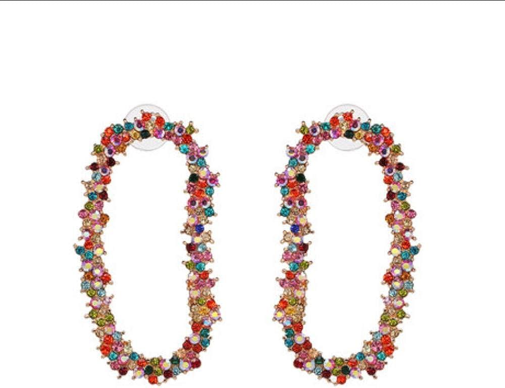Pendientes colgantes de cristal bohemio Yunzhifu para mujer, de estilo bohemio, para bodas, fiestas, regalo especial
