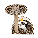 NiceHyacinth Small Cat Tree Sisal Scratching Post Furniture Playhouse Pet Bed Kitten Toy Cat Tower Condo for Kittens