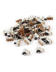 uxcell uxcell55 Pcs 3 Terminals PCB Mount 2 Position SPDT Mini Slide Switch