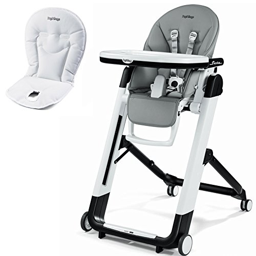 Peg Perego Pappa Diner Prima - Peg Perego Siesta High Chair With Peg Perego Booster Cushion (Ice)