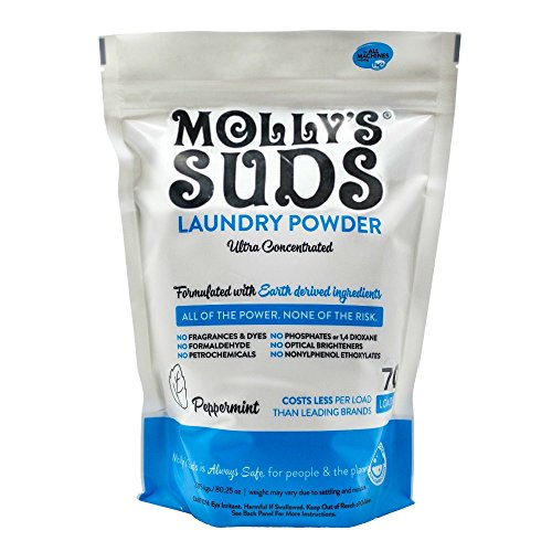 - Molly's Suds Original Laundry Powder 70 Loads, Natural Laundry Soap for Sensitive Skin