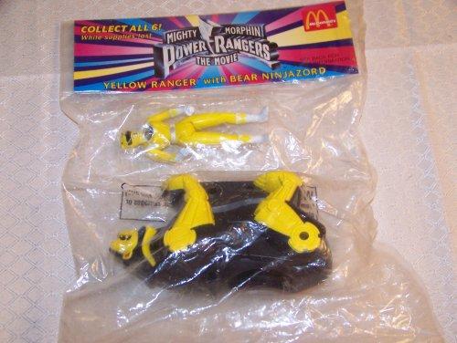 Yellow Power Ranger with Bear ninjazord