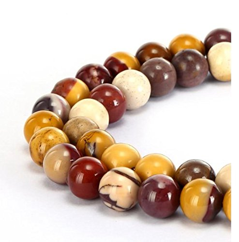 2 Strands Top Quality Natural Mookaite Jasper Gemstone 8mm Round Loose Gems Stone Beads 15.5