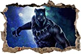 Black Panther Movie 3D Smashed Wall Sticker Decal Decor Art Mural Marvel J968, Large