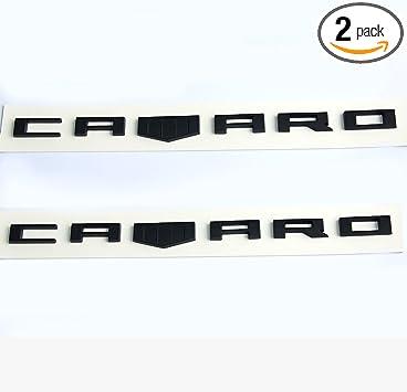 2Pcs Red OEM RS Emblem Badge 3D Nameplate For ZL1 RS Chevrolet Camaro