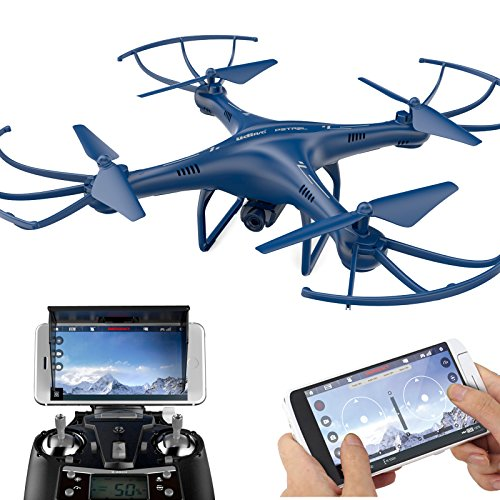 Cheerwing Petrel U42W Wifi Fpv Drone 2.4Ghz RC Quadcopter with HD Camera Altitude Hold and One Key Take Off Landing, Blue