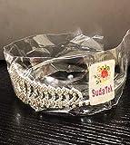 SudaTek Novelty Princess Tiara Sparkle Crystal