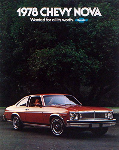 Read Online 1978 CHEVY NOVA DEALERSHIP COLOR SALES BROCHURE - ADVERTISEMENT For 3-Door Hatchback, 4-Door Sedan, 2-Door Coupe - Chevrolet 77 pdf epub