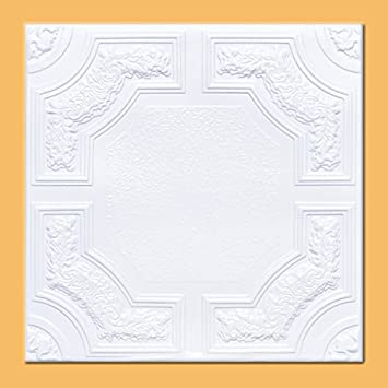 50pc of Caracas White 20 x20 Foam Ceiling Tiles – Covers about 135sqft