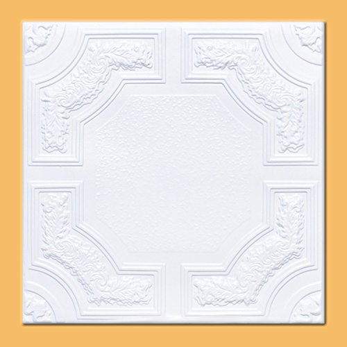 White Styrofoam Ceiling Tile Caracas Package of 8 Tiles  Other Sellers call this Evergreen and R28