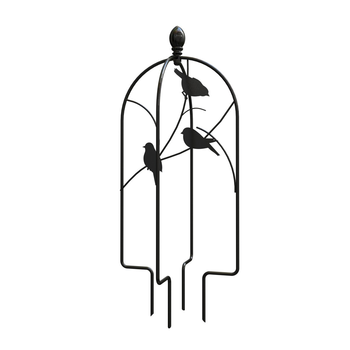 Panacea 84492 24'' H Perching Birds Pot Trellis Topper