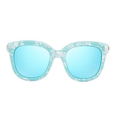 KAI LE Gafas de sol netas rojas Gafas de sol femeninas Polarizadas Marea femenina Gafas redondas