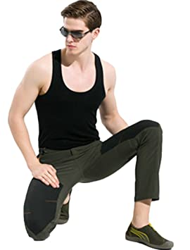 5252e69849d Lakaka Hiking Trousers Mens Waterproof Summer Walking Mountain Pants  Lightweight Breathable Outdoor Sportswear  Amazon.co.uk  Sports   Outdoors