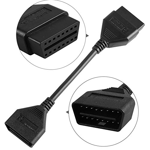 Autool Launch 16pin OBD2 Extension Cable 14CM 5.5 inch for Launch X431 EasyDiag X431 iDiag X431 5C X431 V X431 PRO X431 OBDII Connector