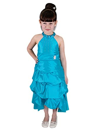 charme de coût Achat/Vente sélectionner pour le meilleur Boutique-Magique Robe de cérémonie Mariage soirée Fille Turquoise