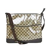 Gucci Brown Crystal GG Canvas Messenger Bag 374411 9790