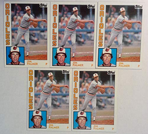 (Topps 1984 Jim Palmer Orioles Pitcher Baseball Cards # 750 Lot of 5)