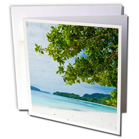 3dRose Danita Delimont - Vanuatu - Champagne beach, Island of Espiritu Santo, Vanuatu, South Pacific - 12 Greeting Cards with envelopes (gc_250353_2) (Beach South Wine)