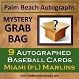 MYSTERY GRAB BAG - 9 Autographed Baseball Cards - Florida Marlins