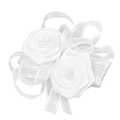 1wrist corsage flower wedding party prom white amazon clothing 1wrist corsage flower wedding party prom white mightylinksfo