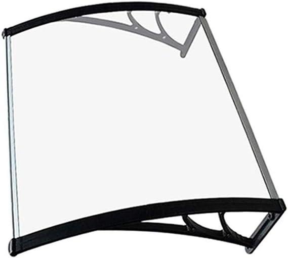 Tejadillo De Protección Marquesina Toldos para Patio Cubierta De Policarbonato Jardín Al Aire Libre Dosel De Techo (Color : Clear, Size : 80cmx100cm): Amazon.es: Hogar
