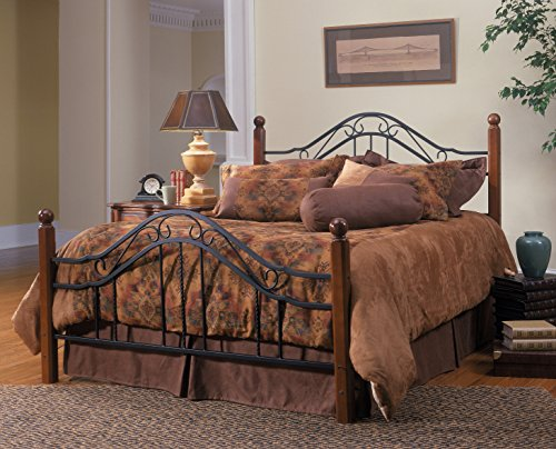 Wrought Iron Queen Headboard - Axente Textured Black Queen Bed Set (Rail Not Included)