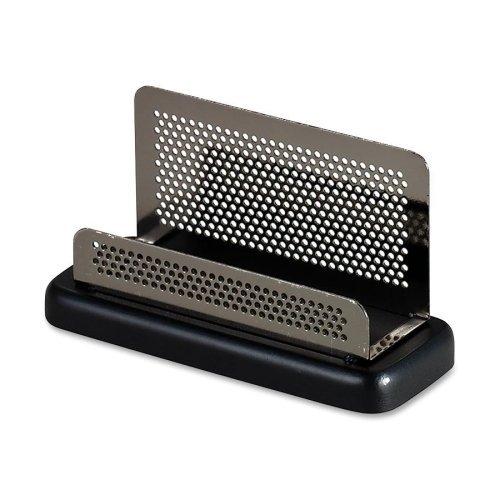 (Wholesale CASE of 20 - Rolodex Distinctions Gun Metal Mesh Bus. Card Hldr-Business Card Holder, 4-3/4