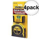 Stabila 11927 Pocket Pro Magnetic Level + BM40 Spikes 27' Tape Measure 4-Pack