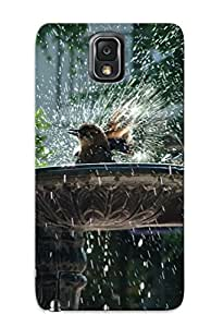 New Arrival Cover Case With Nice Design For Galaxy Note 3- Bird Taking A Bath